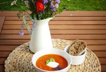 Ortel a rajčatová polívka
